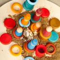 Nins® des saisons et anneaux : été, jouet libre en bois ecologique et ethique grapat