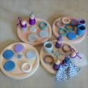 Nins® des saisons et anneaux : hiver, jouet libre en bois ecologique et ethique grapat