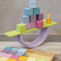 Planches pastel en bois, jeu de construction steiner waldorf Grimm's