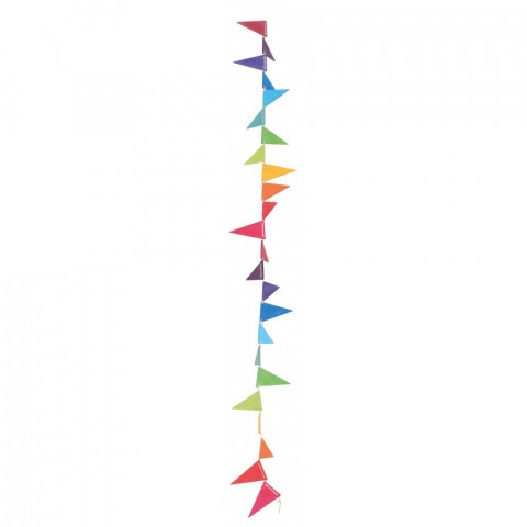 Guirlande de fanions arc en ciel en bois, decoration drapeaux ecologique et ethique Grimm's