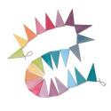 Guirlande de fanions pastel en bois, decoration drapeaux ecologique et ethique Grimm's
