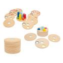 Logisteck, jeu de reflexion à emboiter , premier casse tête jouet en bois legler