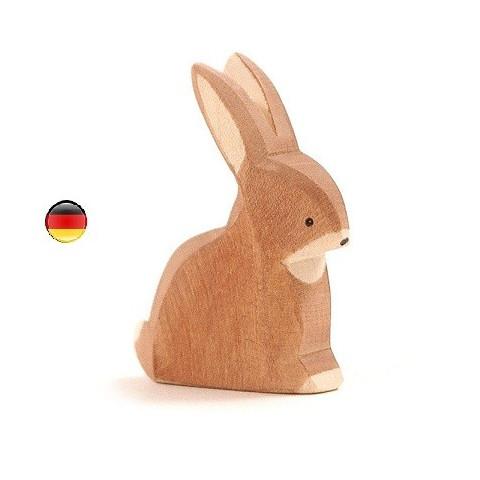 Figurine lapin assis en bois Ostheimer