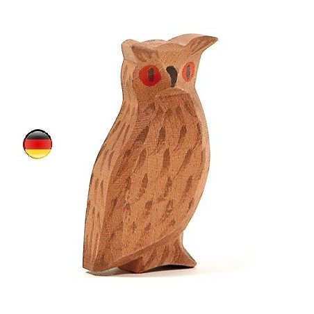 Figurine hibou en bois Ostheimer