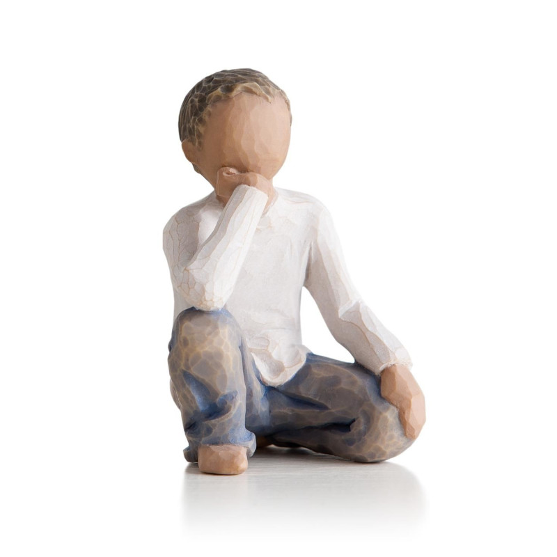 Statuette garçon, Inquisitive child, pour famille de figurine et fratrie Willow Tree