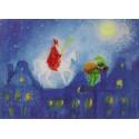 Carte postale saint nicolas, de marjan van zeyl, pour enfants steiner waldorf