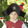 chapeau costume de pirate avec cache oeil en tissu pour deguisement enfant, bartl