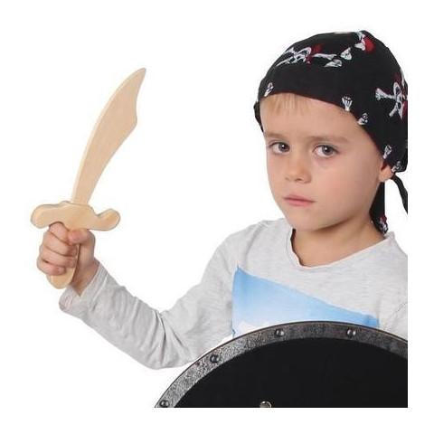 petit sabre épée de pirate, costume d'enfant, jouet en bois bartl allemagne