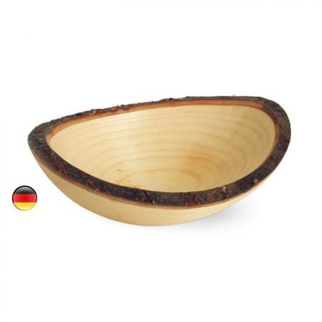 Bol ovale en bois et écorce