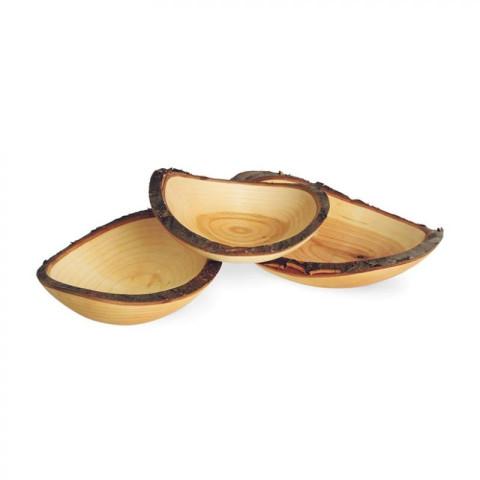 Bol en bois huilé avec ecorce, pour dinette decoration steiner waldorf de wald fabrik