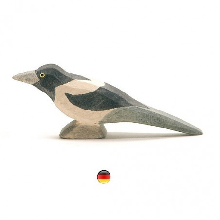 Figurine pie, oiseau en bois Ostheimer