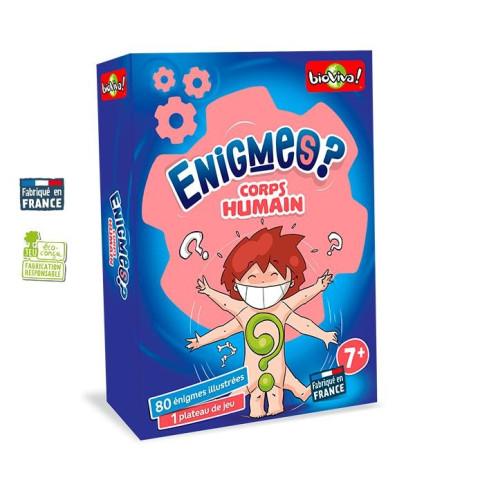 Enigmes Corps Humain, jeu de société français  bioviva