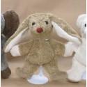 Lapin brun,  doudou peluche en coton bio, jouet naturel ecologique Kallisto