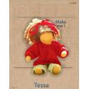 Tessa, kit confection de poupée waldorf steiner en tissu et laine ecologique, de witte engel marotte