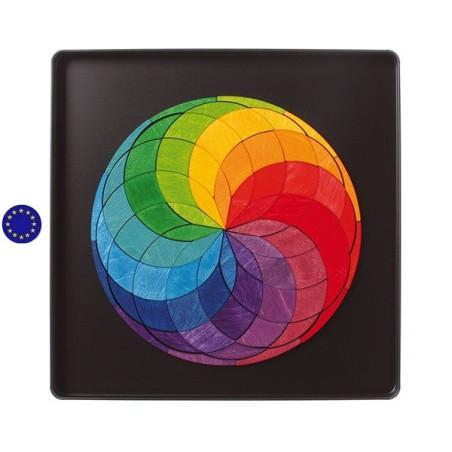 Puzzle magnétique Spirale colorée en bois, Grimm's