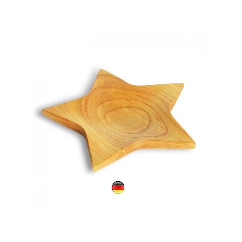 Assiette, bol étoile, plat en bois huilé, decoration steiner waldorf de wald fabrik