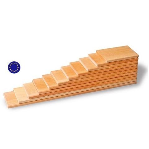 Planches en bois naturel, jouet en bois creatif  ecologique et ethique Grimm's