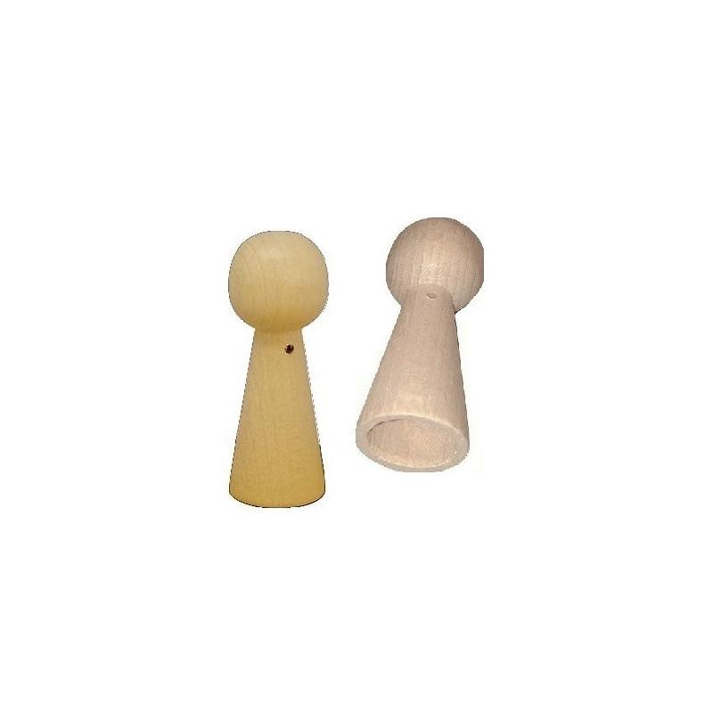 Pion poupée peg doll en bois à decorer, 6.5cm