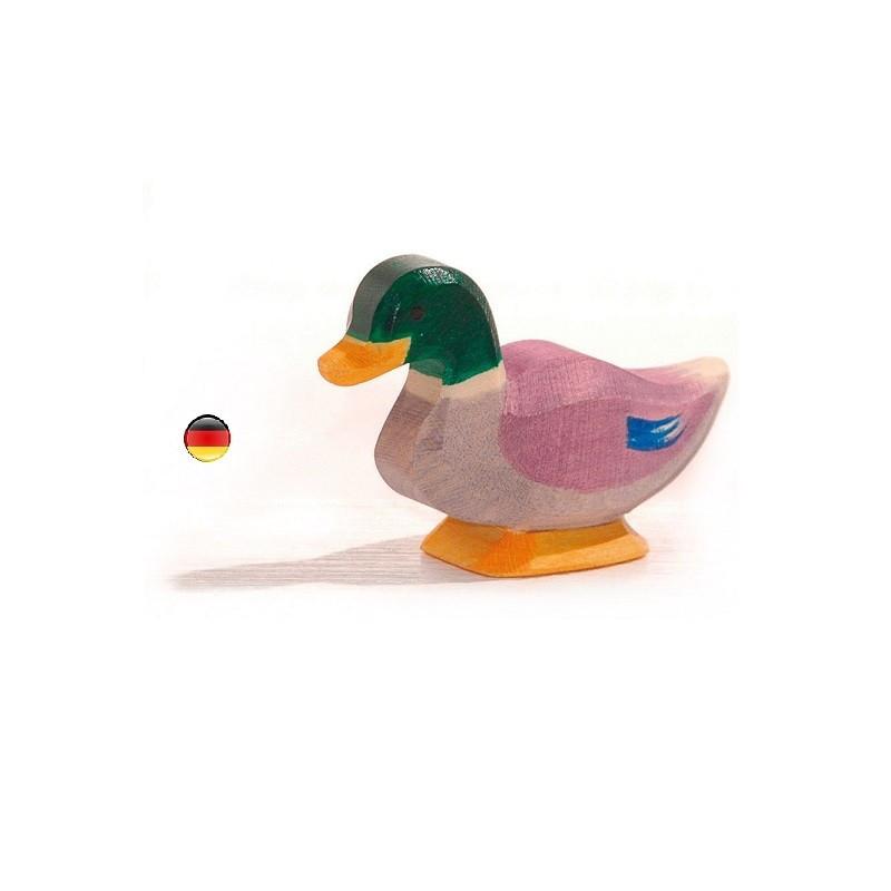 Figurine canard colvert, jouet en bois ecologique steiner waldorf de  Ostheimer
