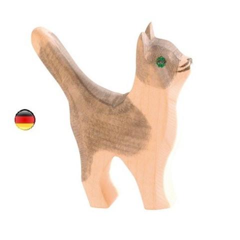 Figurine chat debout, jouet en bois ecologique steiner waldorf de  Ostheimer