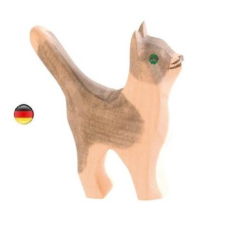 Figurine Chat debout en bois Ostheimer