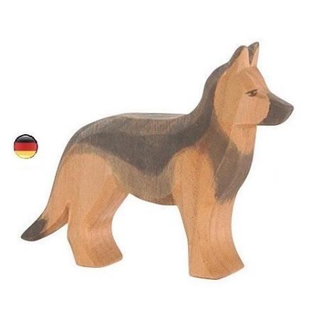 Figurine Chien berger allemand en bois Ostheimer