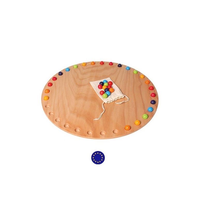 Calendrier annuel : cercle des jours et billes,  Grimm's