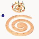 Spirale anniversaire ou avent, nature en bois, Grimm's