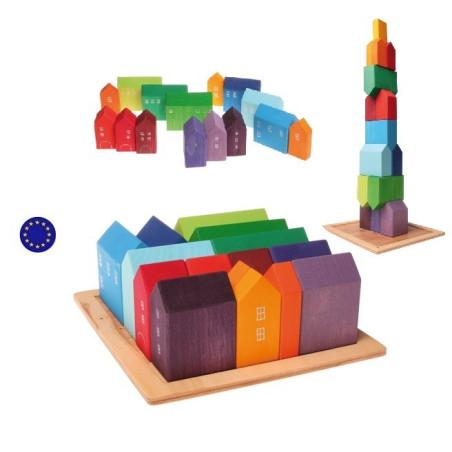 Maisons, jeu de construction en bois Grimm's