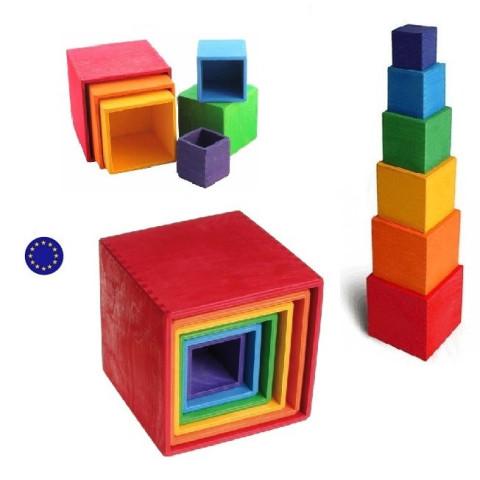 Cubes, boites gigognes, grand modèle Grimm's