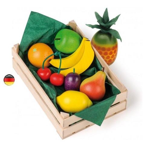 Grande cagette de fruits, jouet en bois pour marchande et dinette steiner waldorf de Erzi strasbourg
