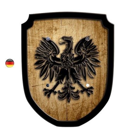 Bouclier aigle en bois