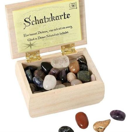 Coffre à trésor de pierres precieuses