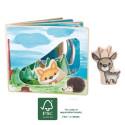 Livre d'images interactif en bois pour bébé, la forêt de Legler small foot