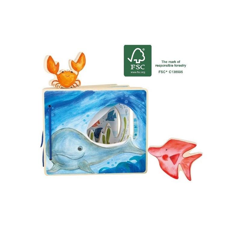 Livre Interactif En Bois La Mer