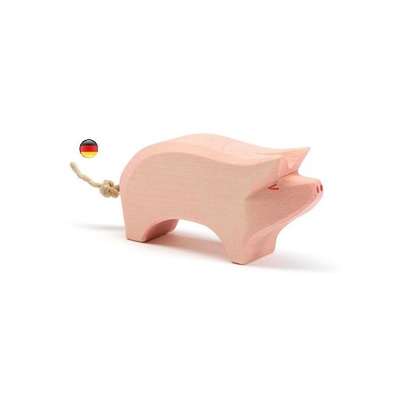 truie, Figurine cochon, animal, jouet en bois steiner  atelier des peupliers ostheimer