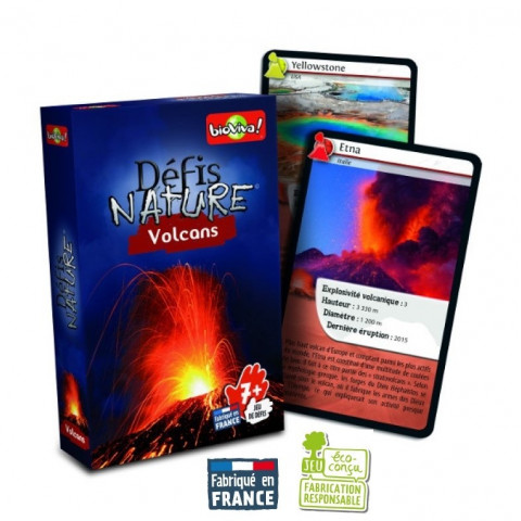 Défis nature Volcans, jeu de cartes bioviva