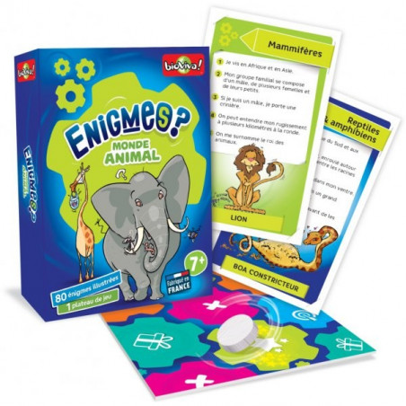 Enigmes du monde animal, jeu de société en cartes ecologique et ethique Bioviva