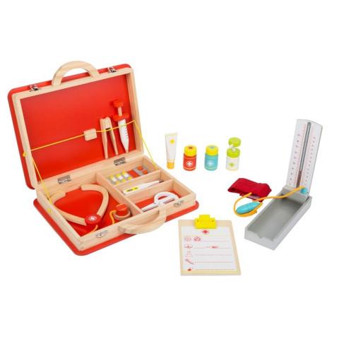 Malette de docteur, jouet en bois