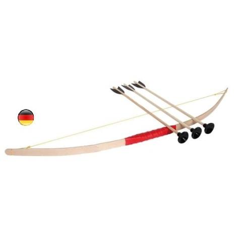 Tir à l'arc avec Arc et fleches en bois, jouet traditionnel de qualité de holzspielerei bartl
