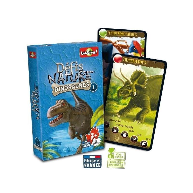 Défis nature Dinosaures 1, jeu de cartes bioviva