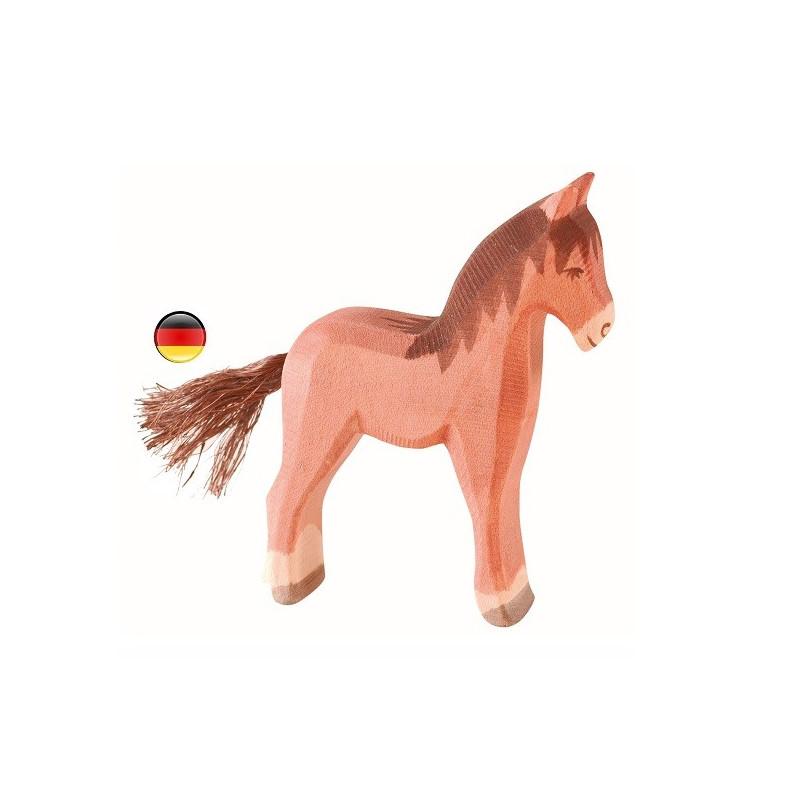 Figurine Poulain, animal en bois, jouet ecologique steiner waldorf de ostheimer