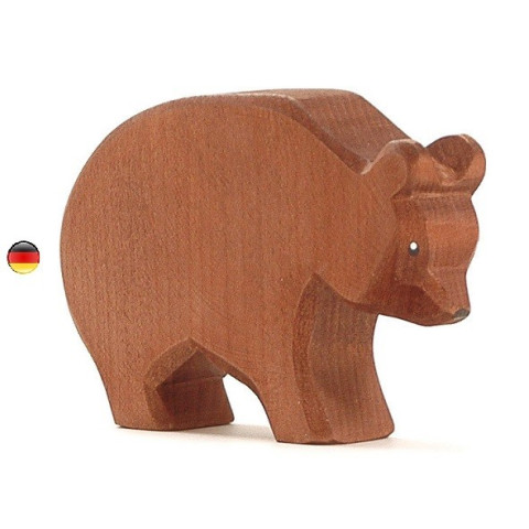 Figurine ours, animal en bois