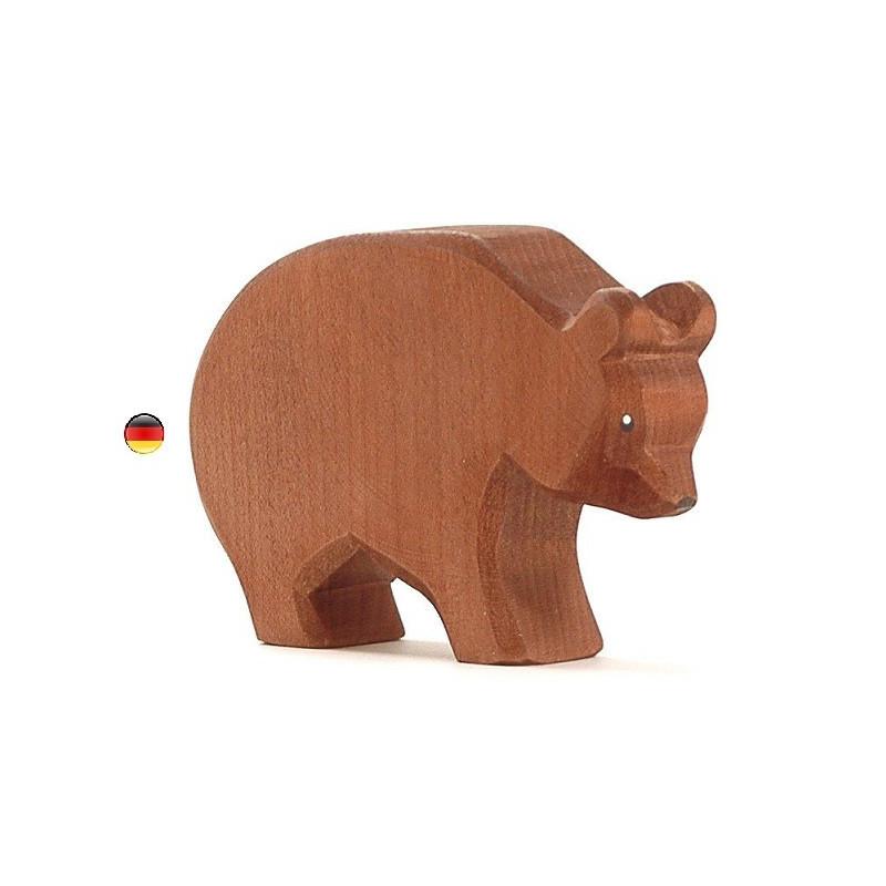 ours, figurine en bois Animal de la foret, jouet en bois atelier des peupliers ostheimer