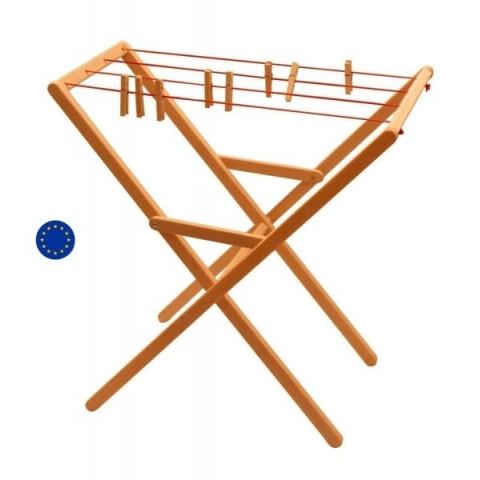Etendoir sechoir à linge avec pinces en bois pour enfant, vie pratique montessori drewart