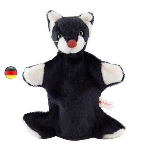 Marionnette chat, peluche doudou en coton bio, jouet ecologique et ethique Kallisto