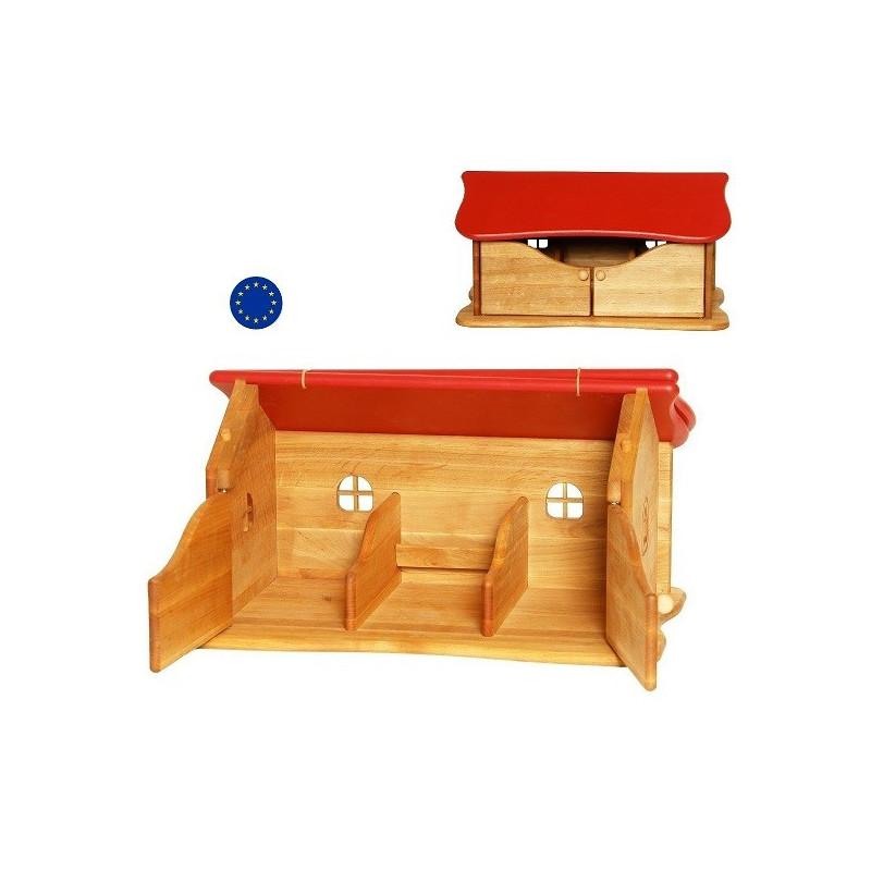 Ecurie, etable de ferme, jouet en bois massif ecologique et ethique de drewart