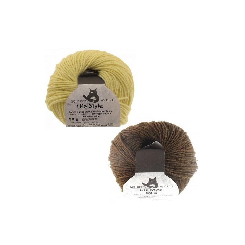 10 Pelotes de laine changeante   307 marque française