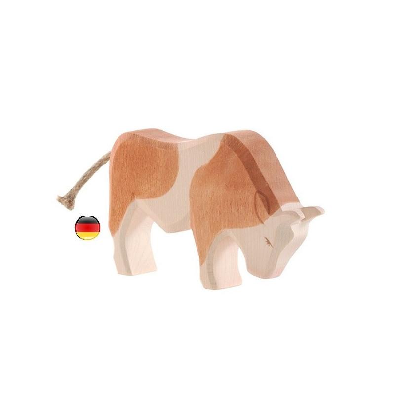 Figurine taureau, jouet en bois ecologique steiner waldorf Ostheimer