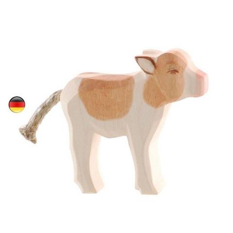 Figurine veau, jouet en bois ecologique et ethique steiner waldorf Ostheimer